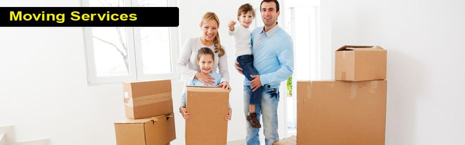 Moving Services - family moving into home