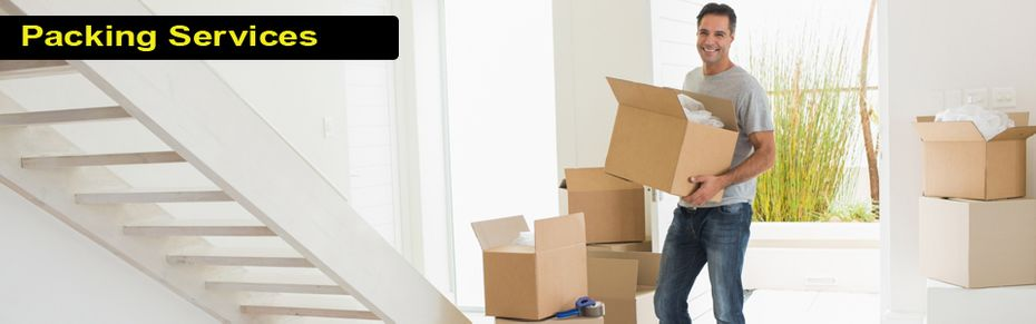Packing Services - movers carrying boxes